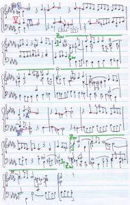 Bach b-moll Skizze 2