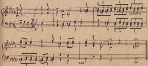Bach b-moll Skizze Höhepunkt