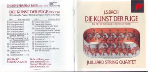 Kunst der Fuge CD Juilliard