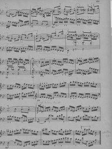Bach B-dur Preludio c Übenoten