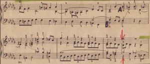 Bach b-moll Auschnitt