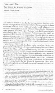 Bruckners Gott Stolzenberg Titel