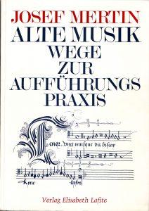 Mertin Alte Musik Titelblatt